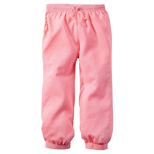 Girls 4-8 Carter's Woven Neon-Print Pants