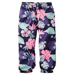Girls 4-8 Carter's Woven Neon-Print Pants