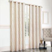 Regent Court 1-Panel Gramercy Embroidered Faux-Silk Window Curtain