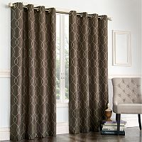 Regent Court Gramercy Embroidered Faux-Silk Window Curtain
