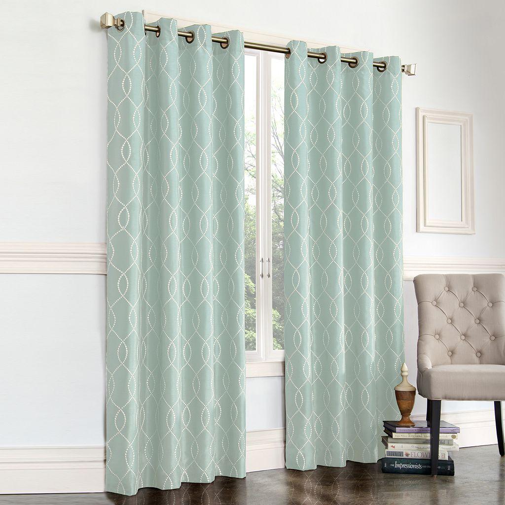 Regent Court Gramercy Embroidered Faux-Silk Window Curtain