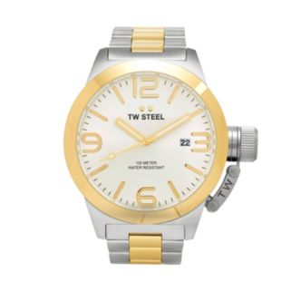 TW Steel Men's Canteen Stainless Steel & 14k Gold Over Stainless Steel Watch - CB32