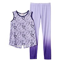 Toddler Girl Design 365 Hearts Swing Tank & Ombre Leggings Set