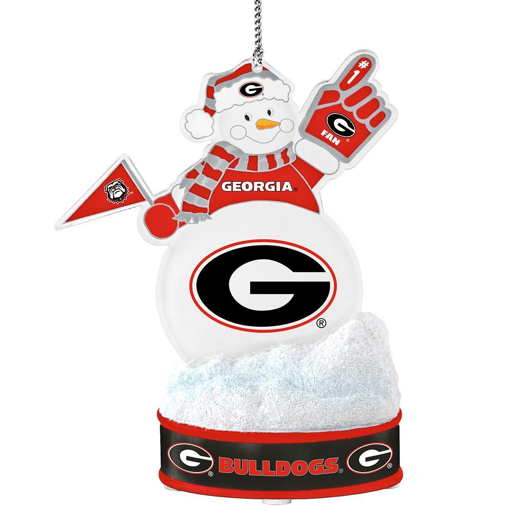 Georgia Bulldogs LED Snowman Ornament