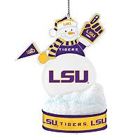 LSU Tigers LED Snowman Ornament