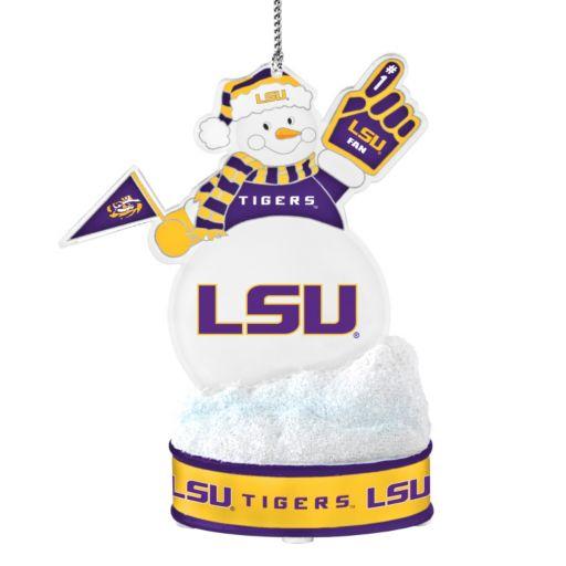 LSU Tigers LED Snowman Ornament