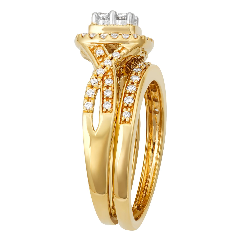 Simply Vera Vera Wang 14k White Gold 1/2 Carat T.W. Certified Diamond  Square Halo