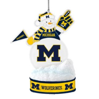 Michigan Wolverines LED Snowman Ornament