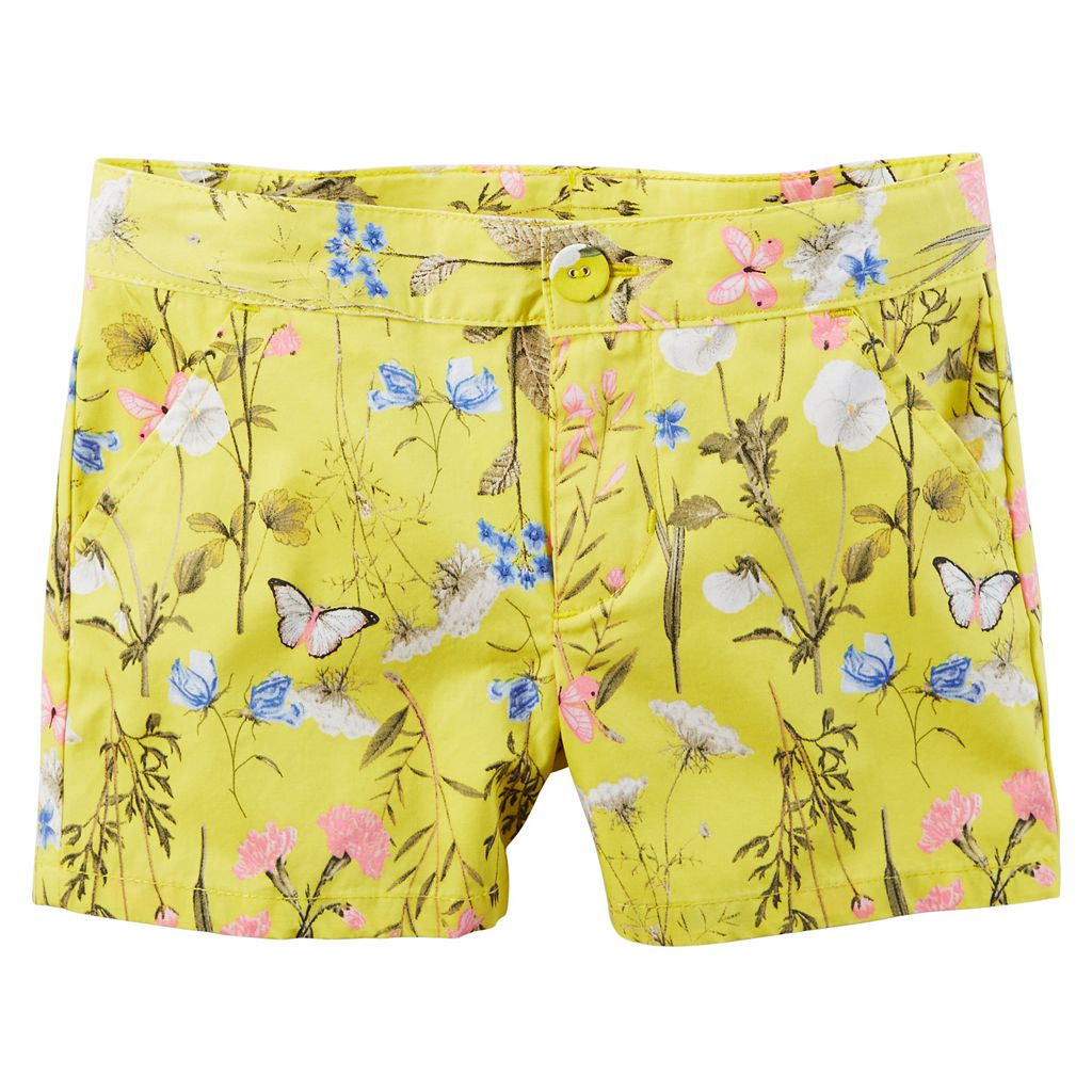 Girls 4-8 Carter's Poplin Shorts