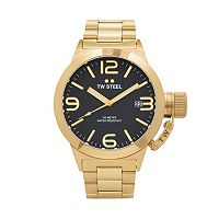 TW Steel Men's Canteen 14k Gold Over Stainless Steel Watch - CB91