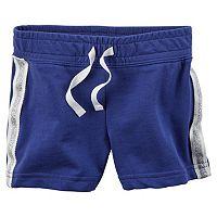 Girls 4-8 Carter's Glitter Stripe Knit Shorts