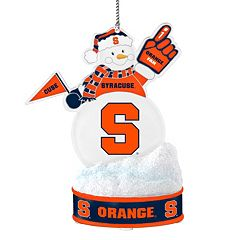 Syracuse Orange LED Snowman Ornament