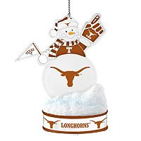Texas Longhorns LED Snowman Ornament