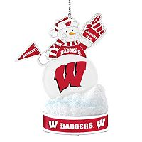 Wisconsin Badgers LED Snowman Ornament