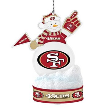 San Francisco 49ers LED Snowman Ornament