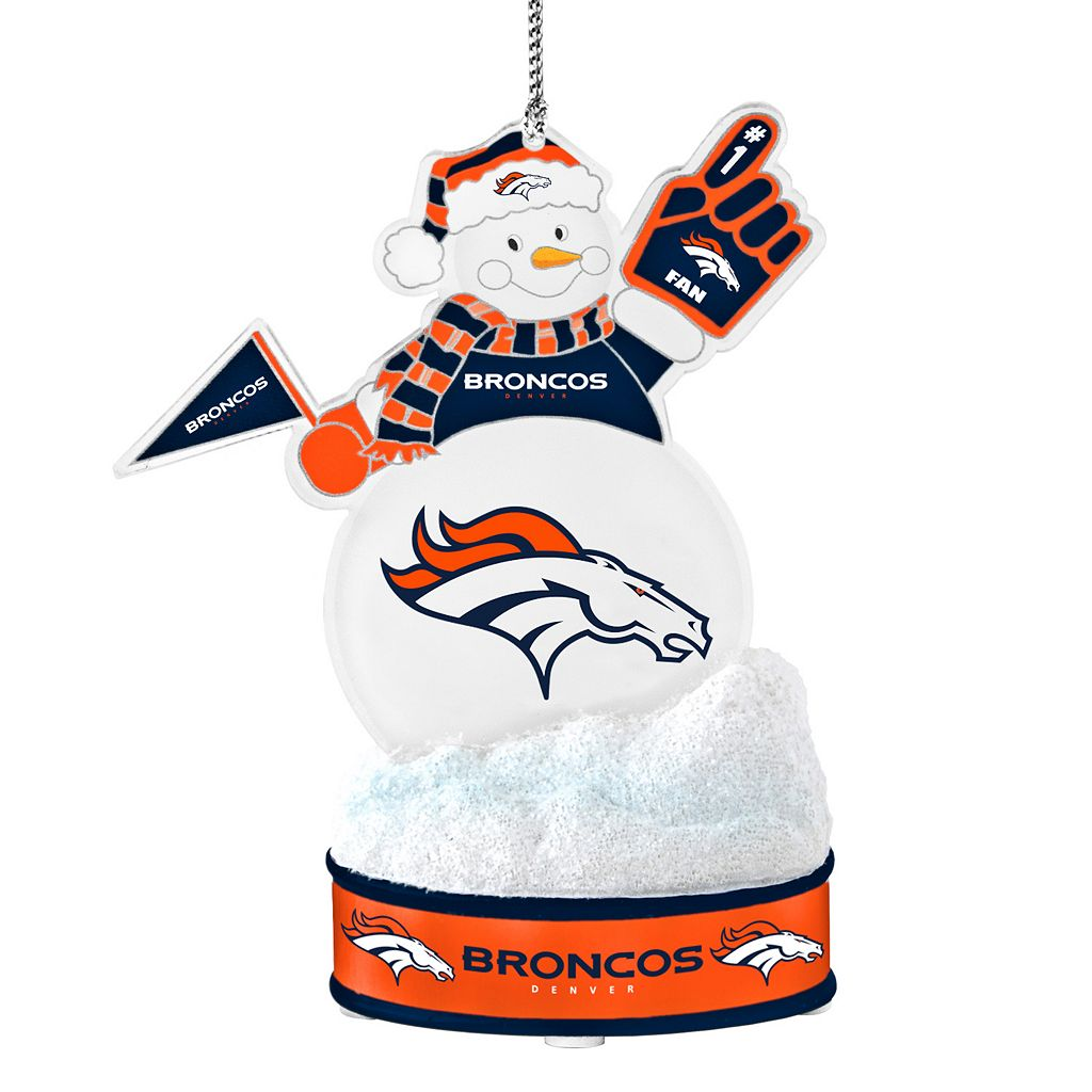 Denver Broncos LED Snowman Ornament