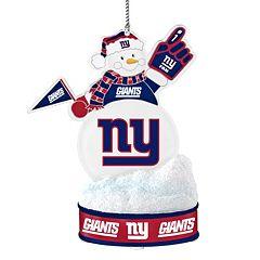 New York Giants LED Snowman Ornament