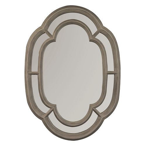 Belle Maison Ornate Oval Wall Mirror
