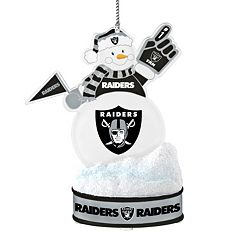 Oakland Raiders LED Snowman Ornament