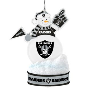 Oakland Raiders LED Snowman Ornament