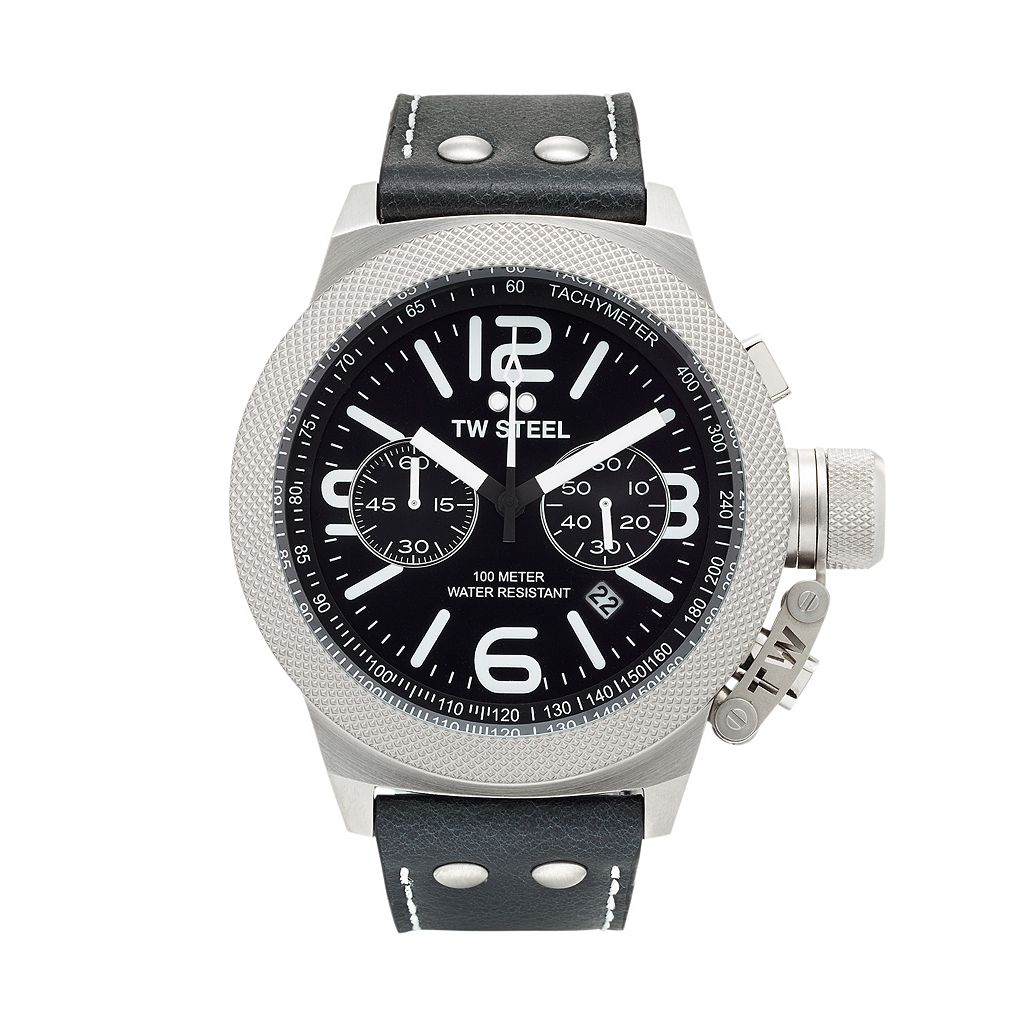 TW Steel Men's Canteen Leather Chronograph Watch - CS4