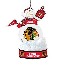 Chicago Blackhawks LED Snowman Ornament