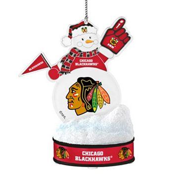 Chicago Blackhawks LED Snowman Ornament