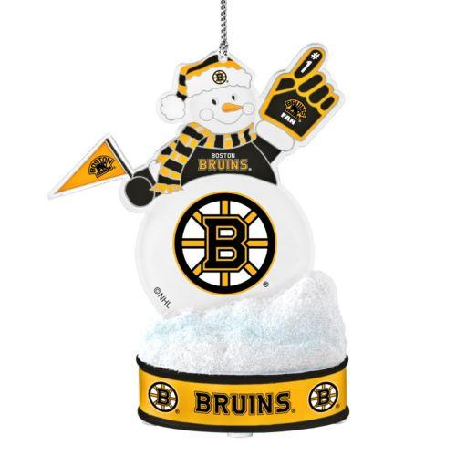 Boston Bruins LED Snowman Ornament