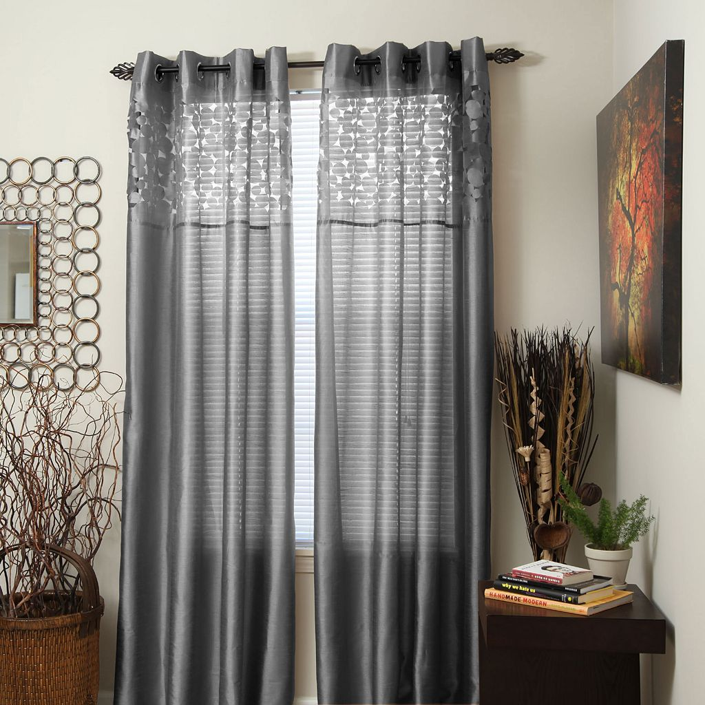 Portsmouth Home Karla Sheer Window Curtains