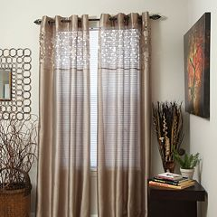Portsmouth Home Karla Laser-Cut Sheer Window Curtains