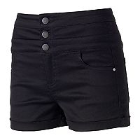 Juniors' Tinseltown Color Triple Stack Shortie Shorts