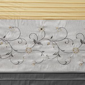 Madison Park Belle Embroidered Floral Shower Curtain