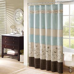Madison Park Belle Embroidered Fl Shower Curtain