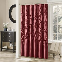 Madison Park Vivian Tufted Shower Curtain Mushroom Plum Ivory Aqua Blue White Gray Red Navy