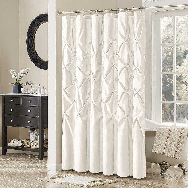 Madison Park Laurel Shower Curtain-One Size, WHITE