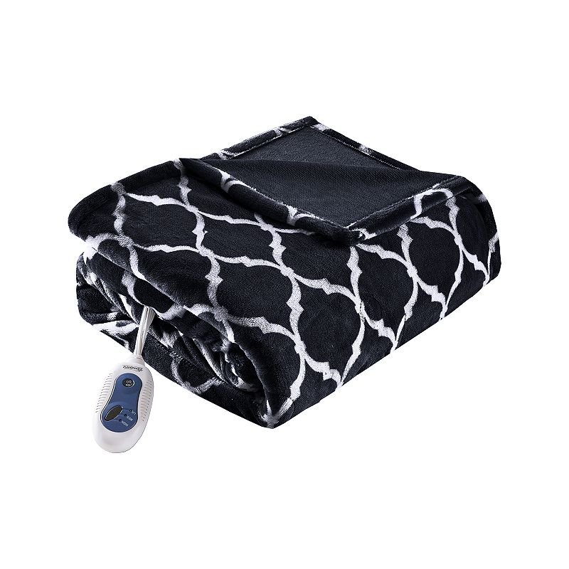 Keep the chill out with this Beautyrest oversized ogee heated throw. FEATURES 70\\\'\\\' x 60\\\'\\\' Secure Comfort technology adjust blanket temperature for consistent flow of warmth Emits virtually no electromagnetic field emissions Ultra soft feel 3 heat settings CONSTRUCTION & CARE Polyester Machine wash Imported  Size: One Size. Color: Black. Gender: unisex. Age Group: adult.