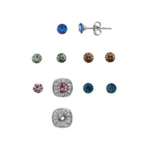 Charming Inspirations Interchangeable Square Halo Stud Earring Set