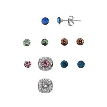 Charming InspirationsInterchangeable Square Halo Stud Earring Set