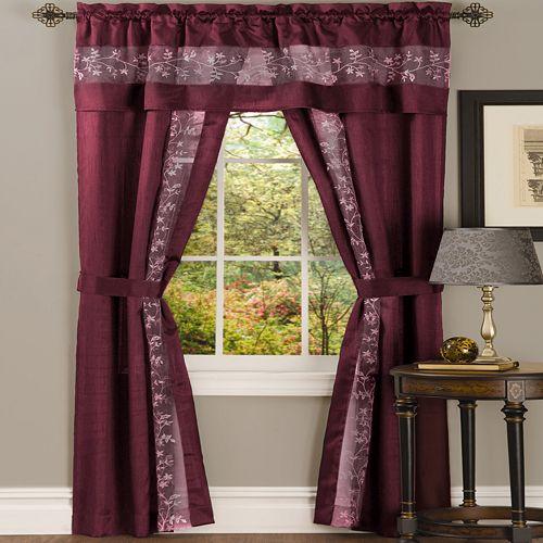 ACHIM Fairfield 5 Piece Window Curtain Set - 55x84 - Grey