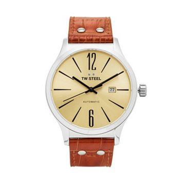 TW Steel Men's Slim Line Leather Automatic Watch - TWA1311