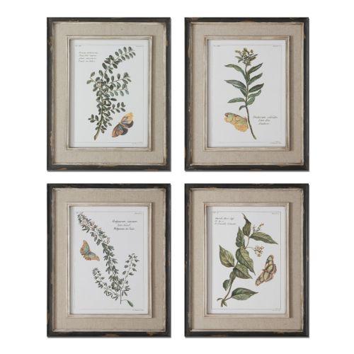 Butterfly Plants Wall Art 4-piece Set