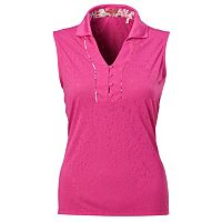 Women's Nancy Lopez Courage Sleeveless Golf Polo
