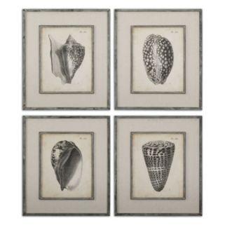 Vintage Diderot Seashell Wall Art 4-piece Set