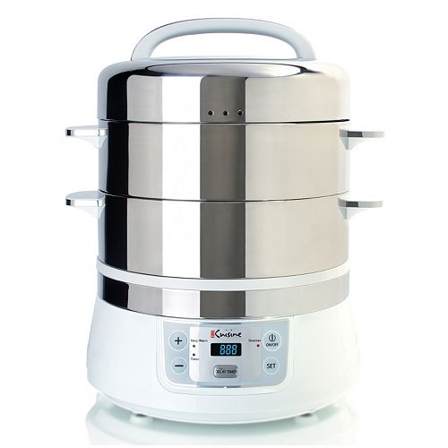 Euro Cuisine 2-Tier Electric Food Steamer