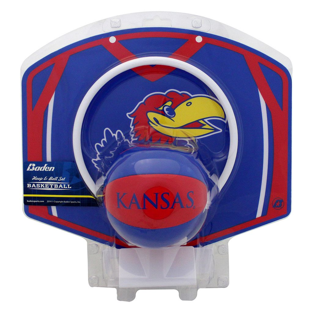 Baden Kansas Jayhawks Mini Basketball Hoop & Ball Set