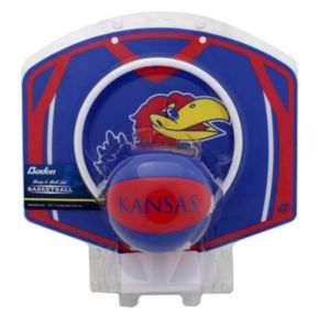 Baden Kansas Jayhawks Mini Basketball Hoop & Ball Set