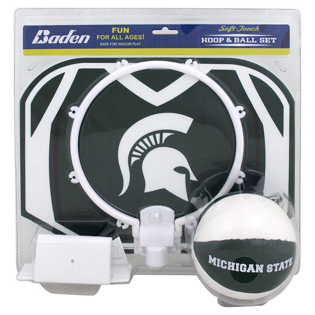 Baden Michigan State Spartans Mini Basketball Hoop & Ball Set