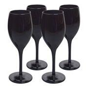 Artland 4 pc Midnight Black Wine Glass Set