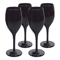 Artland 4 pc Midnight Black Wine Glass Set