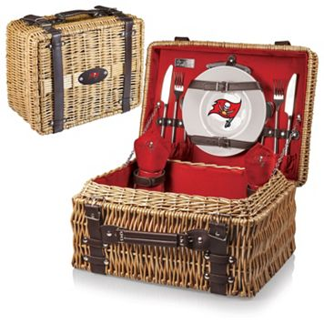 Picnic Time Tampa Bay Buccaneers Champion Willow Picnic Basket with Service for 2